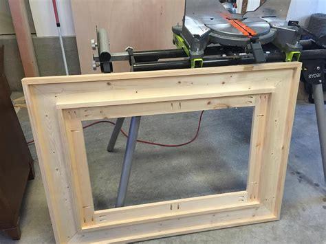 wooden framed mirror buildsomethingcom
