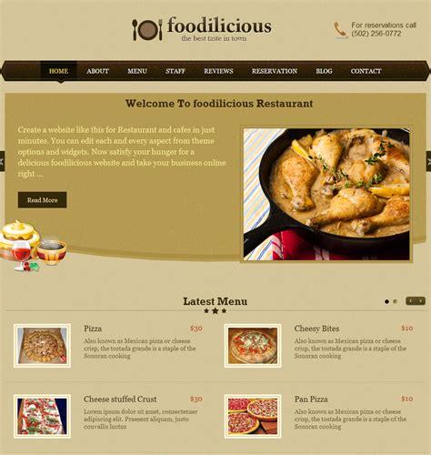 web cuisine restaurant web design top level web design