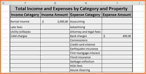 simple business expense spreadsheet excel