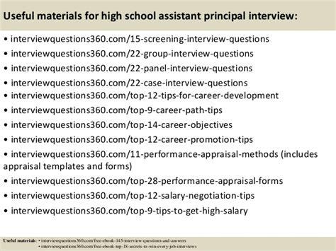 School Questions by Top 10 High School Assistant Principal Questions