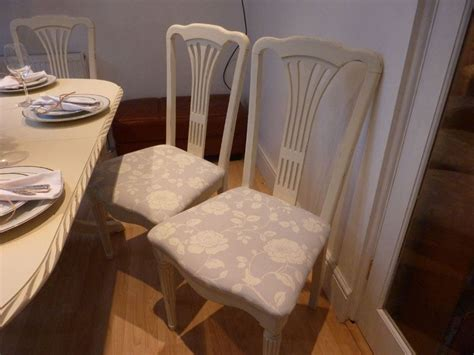 shabby chic extending dining table   chairs painted