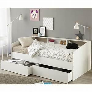 Bett Weiß 90x200 Kind : stauraumbett sleep 1 einzelbett bett in wei mit ablage bettschubkasten 90x200 ebay ~ Bigdaddyawards.com Haus und Dekorationen