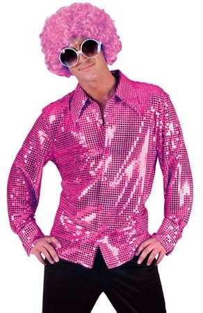 adult hot pink sequin disco shirt candy apple costumes