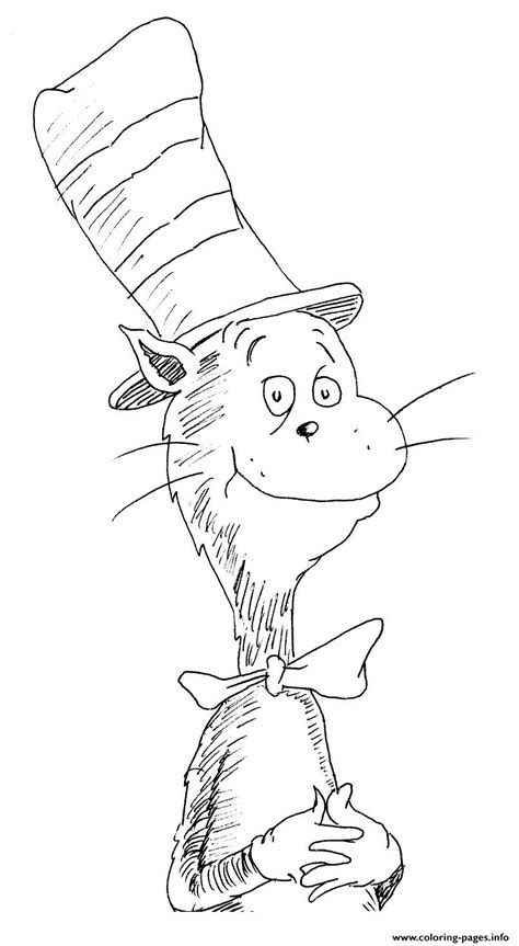cat   hat easy coloring pages printable