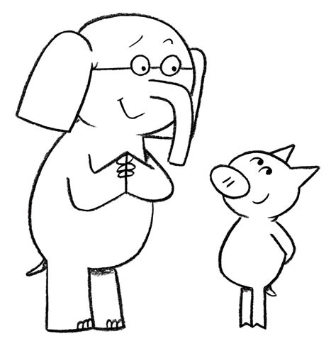 Elephant And Piggie Coloring Page Coloring Pages