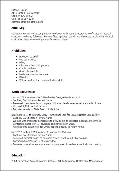 1 utilization review resume templates try them now