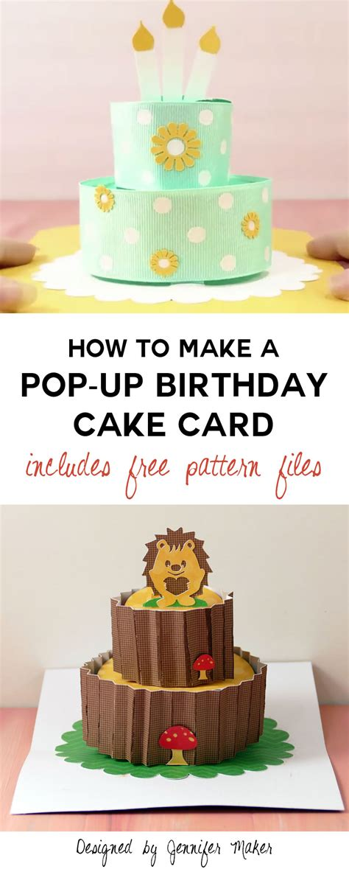 How To Make A Popup Birthday Cake Card  Jennifer Maker