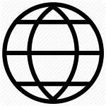 Globe Icon Internet Browser Earth Shape Web