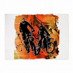 dirt bike duo in red orange and bla 539x739area rug by admin With kitchen colors with white cabinets with stickers for dirt bikes