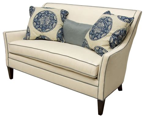 Sam Settee by New Sam Everly Upholstered Settee