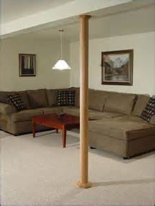 basement wrap pole wrap oak and mdf the best solution for finishing basement poles at fox
