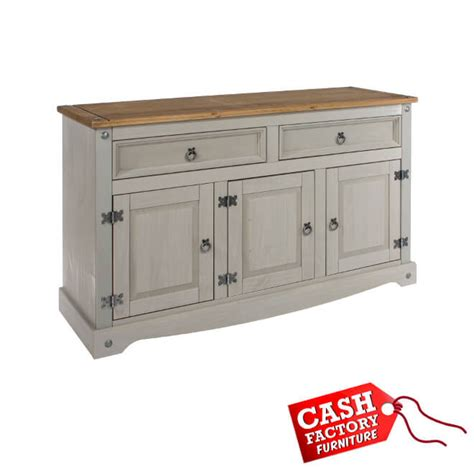 Corona Medium Sideboard by Corona Grey Medium Sideboard Factory Furniture