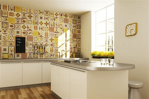 yellow kitchen wall tiles top 15 patchwork tile backsplash designs for kitchen 1695