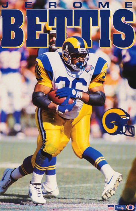 poster nfl football jerome bettis st louis rams