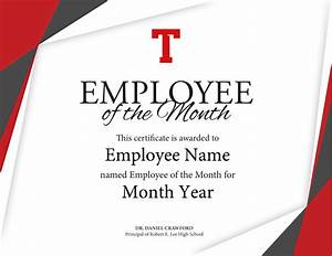 employee of the month certificate template with picture - tyler lee employee of the month certificate