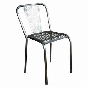 Chaise Métal Industriel : chaise en m tal grise style industriel demeure et jardin ~ Teatrodelosmanantiales.com Idées de Décoration