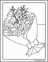 Coloring Bouquet Flower Pages Floral Sheet Pdf Colorwithfuzzy sketch template