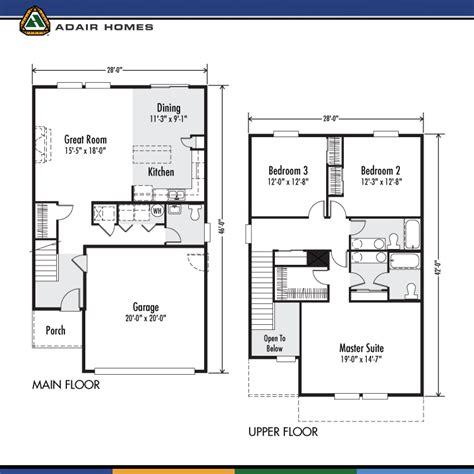 Adair Homes 2160 Floor Plan by Adair Homes The Ruby 1843 Home Plan