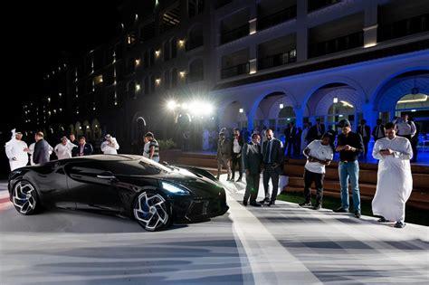 bugatti la voiture noire receives dazzling dubai debut