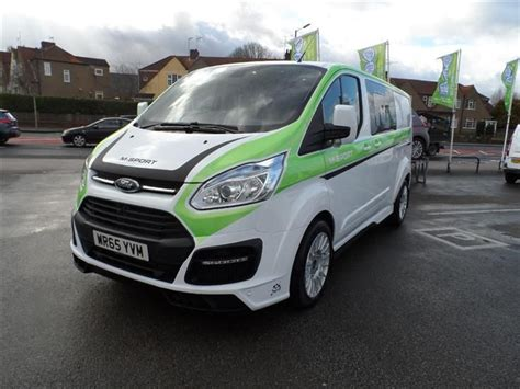 used 2016 ford transit custom 290 l2 m sport cab 2 2 tdci 155ps in frozen white with