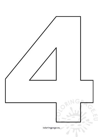 cut  number  coloring page