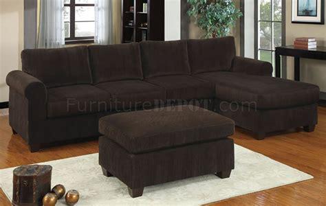 reversible sectional sofa  chocolate corduroy