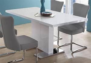Hochglanz Tisch Weiß : esstisch pamela tisch in wei hochglanz edelstahl ausziehbar 160 200 x80 cm ebay ~ Frokenaadalensverden.com Haus und Dekorationen