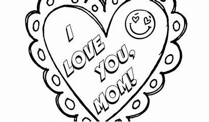 Coloring Mom Pages Printable Heart Mother Dad