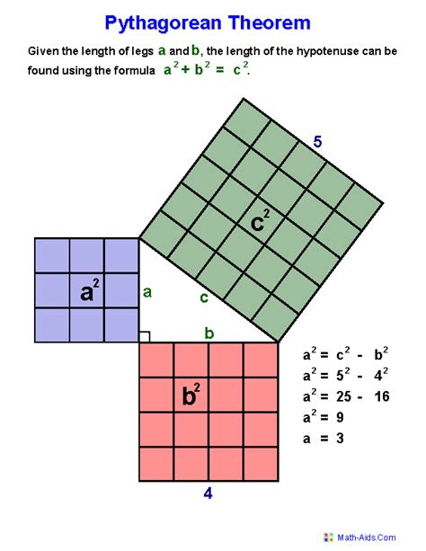 Geometry Worksheets  Index Of Pythagorean Theorem Worksheets