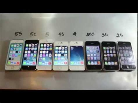 iphones in order comparison between all iphones