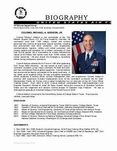 sample of biography for retirement just bcause With air force bio template