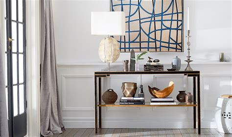 a by guide to decorating a console table