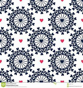 Seamless Pattern With Hand Drawn Circles And Hearts ...