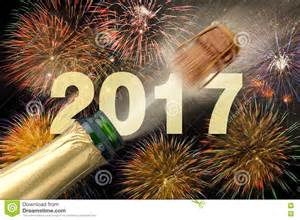 2017 Happy New Year Eve Champagne