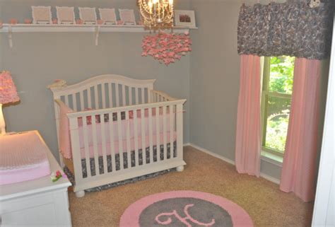 Pink And Grey Nursery Rug by Custom Initial Monogram Rugs Contemporary Other