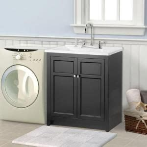 home depot utility sink kit conyer 30 in laundry vanity in black and premium acrylic