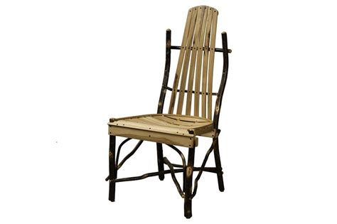 rustic hickory dining room chair