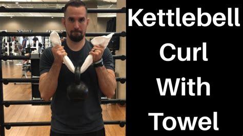 kettlebell curl towel