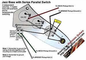 Fender Squier Jazz Bass Wiring Diagram