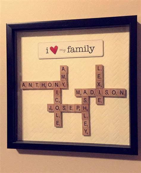scrabble frame art  etsy shop diy gifts family