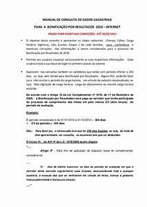 Manual Consulta De Dados Cadastrais Para A Bonificacao Por Resulta U2026