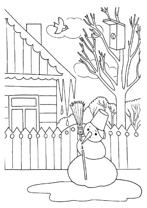 Coloring Top by Landscape Coloring Pages To And Print For Free