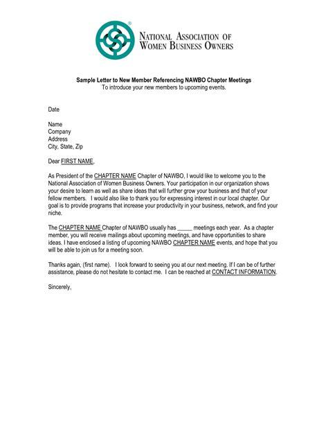 membership new member welcome letter 6 best images of new church member welcome letter sle 73739