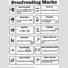 Proofreading Correction Symbols Booksbytrista