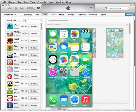 organizing and arranging iphone and apps using itunes
