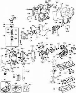 Dewalt Dw933 18v Cordless Jig Saw Parts  Type 1  Parts
