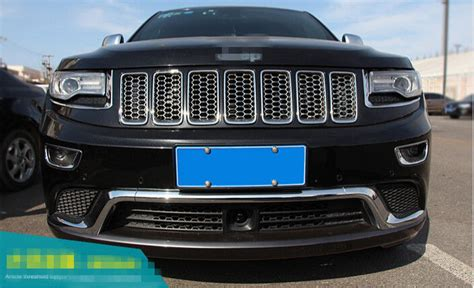 jeep grand cherokee front grill 1set abs chrome honeycomb front grill grilles cover for