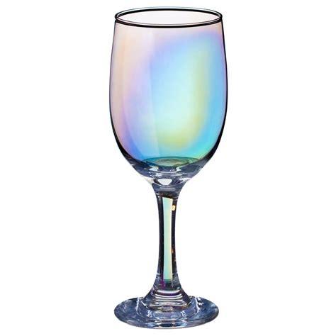 Iridescent Wine Glasses 4pk Kitchen Dining Bandm