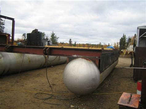 Round Boat Lift Tanks by King Of Obsolete Pontoon Boat