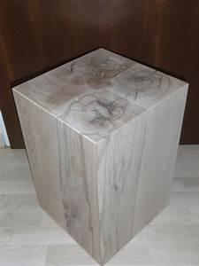 Bild 4 holzblock holzw rfel holzklotz hocker tisch for Holzwürfel tisch